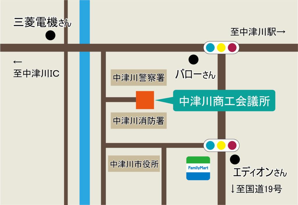 中津川商工会議所 地図